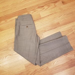 Gunex Italy Sand Color Wool Cigarette Pants